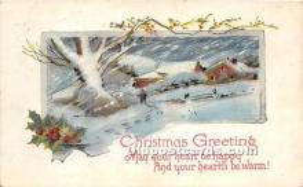 hol017670 - Santa Claus Postcard Old Vintage Christmas Post Card