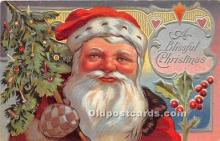 hol017674 - Santa Claus Postcard Old Vintage Christmas Post Card