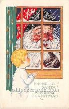 hol017675 - Santa Claus Postcard Old Vintage Christmas Post Card
