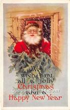 hol017678 - Santa Claus Postcard Old Vintage Christmas Post Card