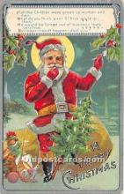 hol017679 - Santa Claus Postcard Old Vintage Christmas Post Card