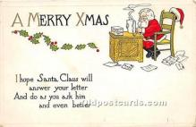 hol017680 - Santa Claus Postcard Old Vintage Christmas Post Card