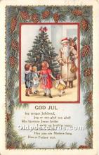 hol017681 - Santa Claus Postcard Old Vintage Christmas Post Card