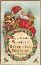 hol017684 - Santa Claus Postcard Old Vintage Christmas Post Card