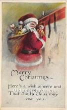 hol017685 - Santa Claus Postcard Old Vintage Christmas Post Card