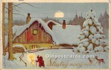 hol017687 - Santa Claus Postcard Old Vintage Christmas Post Card