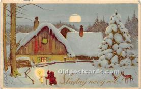 hol017687 - Santa Claus Postcard Old Vintage Christmas Post Card
