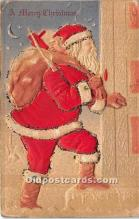 hol017689 - Santa Claus Postcard Old Vintage Christmas Post Card