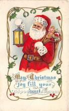 hol017690 - Santa Claus Postcard Old Vintage Christmas Post Card