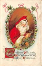 hol017691 - Santa Claus Postcard Old Vintage Christmas Post Card