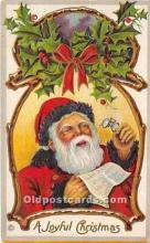 hol017692 - Santa Claus Postcard Old Vintage Christmas Post Card