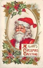 hol017693 - Santa Claus Postcard Old Vintage Christmas Post Card