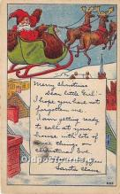 hol017694 - Santa Claus Postcard Old Vintage Christmas Post Card
