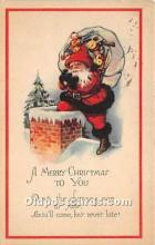 hol017696 - Santa Claus Postcard Old Vintage Christmas Post Card