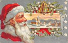 hol017698 - Santa Claus Postcard Old Vintage Christmas Post Card