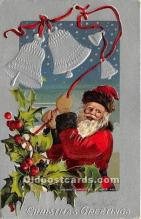 hol017699 - Santa Claus Postcard Old Vintage Christmas Post Card