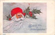 hol017700 - Santa Claus Postcard Old Vintage Christmas Post Card