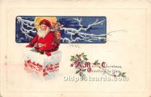 hol017701 - Santa Claus Postcard Old Vintage Christmas Post Card