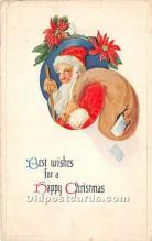 hol017702 - Santa Claus Postcard Old Vintage Christmas Post Card