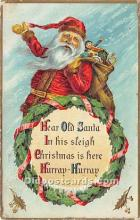 hol017704 - Santa Claus Postcard Old Vintage Christmas Post Card