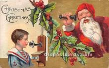 hol017705 - Santa Claus Postcard Old Vintage Christmas Post Card