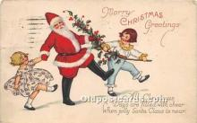 hol017711 - Santa Claus Postcard Old Vintage Christmas Post Card