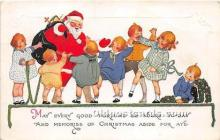 hol017712 - Santa Claus Postcard Old Vintage Christmas Post Card