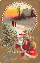 hol017714 - Santa Claus Postcard Old Vintage Christmas Post Card