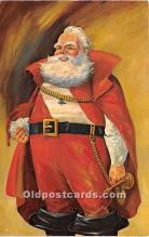 hol017716 - Santa Claus Postcard Old Vintage Christmas Post Card