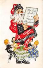 hol017718 - Santa Claus Postcard Old Vintage Christmas Post Card