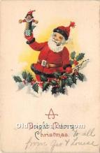 hol017719 - Santa Claus Postcard Old Vintage Christmas Post Card