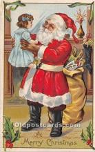 hol017720 - Santa Claus Postcard Old Vintage Christmas Post Card