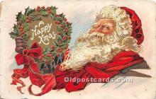 hol017724 - Santa Claus Postcard Old Vintage Christmas Post Card