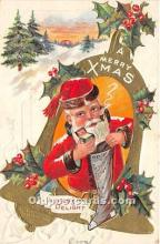 hol017726 - Santa Claus Postcard Old Vintage Christmas Post Card