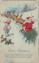 hol017727 - Santa Claus Postcard Old Vintage Christmas Post Card