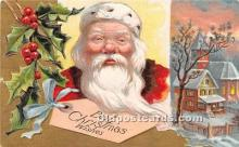 hol017733 - Santa Claus Postcard Old Vintage Christmas Post Card