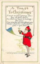 hol017735 - Santa Claus Postcard Old Vintage Christmas Post Card