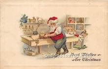 hol017736 - Santa Claus Postcard Old Vintage Christmas Post Card