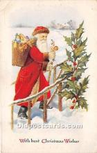 hol017737 - Santa Claus Postcard Old Vintage Christmas Post Card