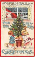 hol017738 - Santa Claus Postcard Old Vintage Christmas Post Card