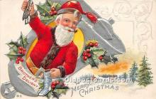 hol017740 - Santa Claus Postcard Old Vintage Christmas Post Card