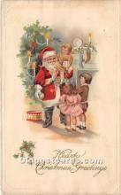 hol017741 - Santa Claus Postcard Old Vintage Christmas Post Card