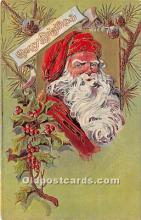 hol017742 - Santa Claus Postcard Old Vintage Christmas Post Card