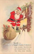 hol017743 - Santa Claus Postcard Old Vintage Christmas Post Card