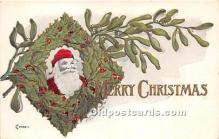 hol017744 - Santa Claus Postcard Old Vintage Christmas Post Card