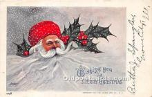 hol017745 - Santa Claus Postcard Old Vintage Christmas Post Card