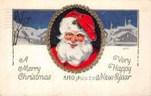 hol017750 - Santa Claus Postcard Old Vintage Christmas Post Card