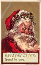 hol017751 - Santa Claus Postcard Old Vintage Christmas Post Card