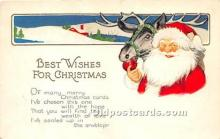 hol017752 - Santa Claus Postcard Old Vintage Christmas Post Card