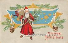 hol017756 - Santa Claus Postcard Old Vintage Christmas Post Card